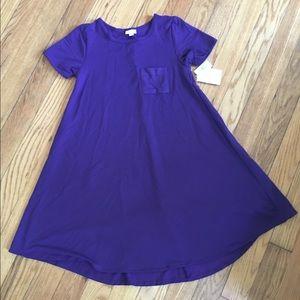 NWT Lularoe size XS Carly dress, beautiful purple!